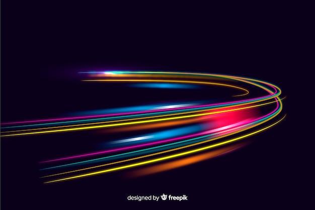 Le luci di velocità dei sentieri visualizzano lo sfondo