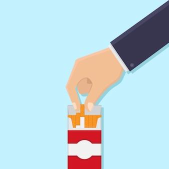 Le mani prendono le sigarette