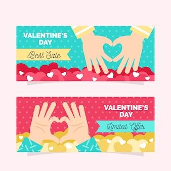 Le migliori vendite di banner di vendita di san valentino