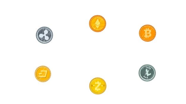 Le monete hanno isolato l'illustrazione di vettore