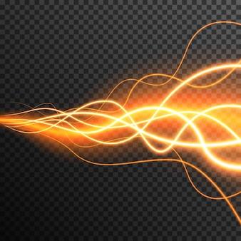Le onde d'ardore astratte di effetto della luce vector trasparente