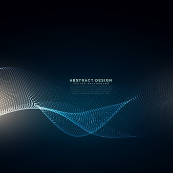 Le particelle digitali presentano la tecnologia della tecnologia delle onde