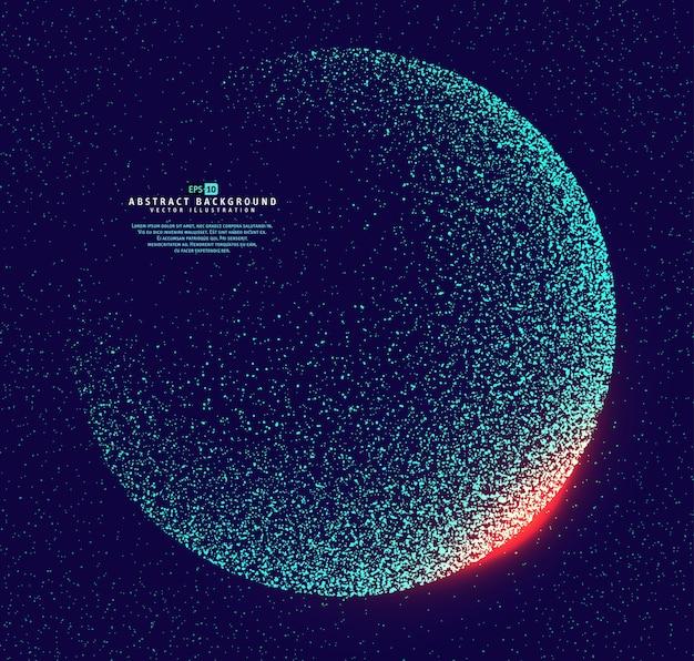 Le particelle hanno costruito il globo del mondo