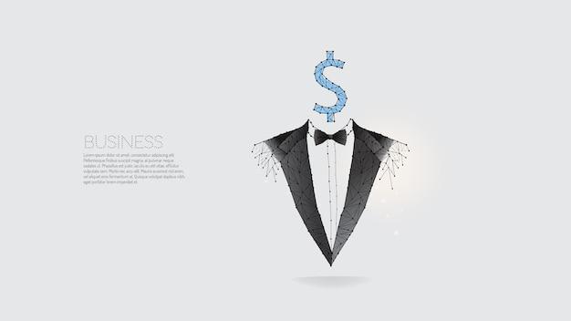 Le particelle linea e punto di uomo d'affari