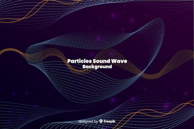 Le particelle sonore ondeggiano sullo sfondo