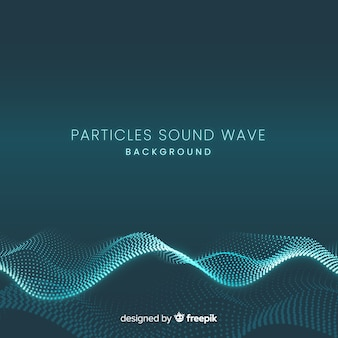 Le particelle sonore scure ondeggiano sullo sfondo