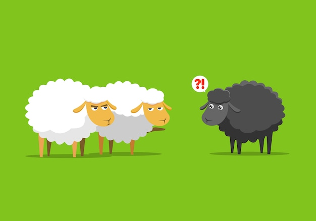 Le pecore bianche danno la colpa alle pecore nere