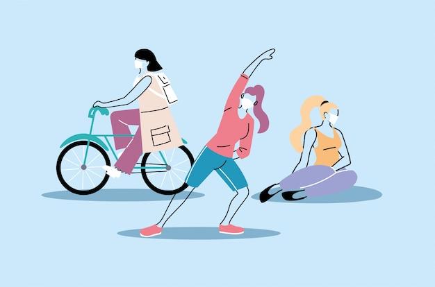 Le persone che fanno attività fisica