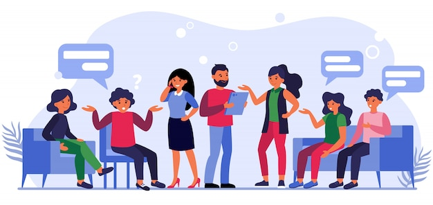 Le persone che fanno domande agli imprenditori
