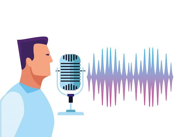 Le persone che usano il riconoscimento vocale