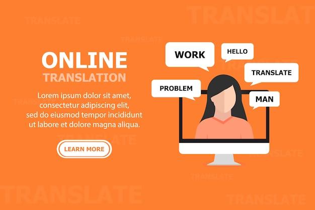 Le persone comunicano online nel concetto di comunicazione di lingue diverse
