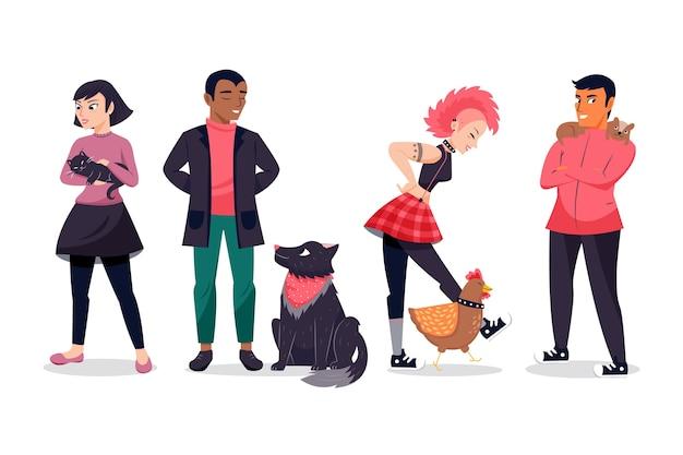 Le persone con animali domestici