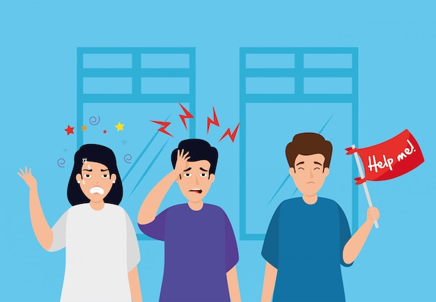 Le persone con attacchi di stress sul posto di lavoro