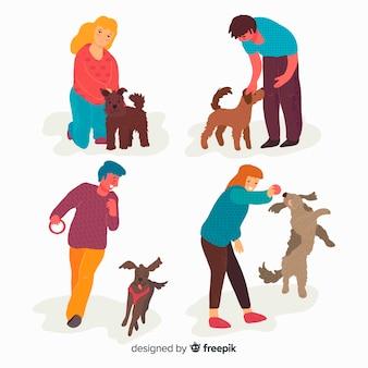Le persone con i loro animali domestici