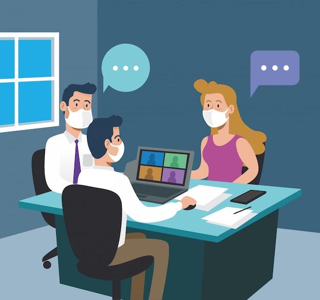 Le persone di affari team in ufficio con la strategia del documento