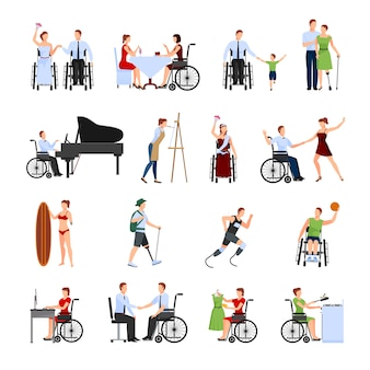 Le persone disabili impostate