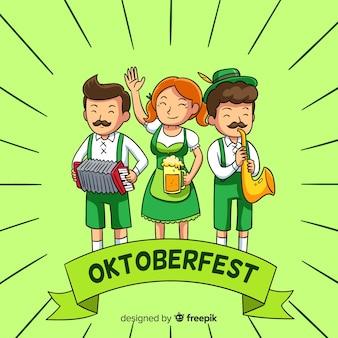 Le persone festeggiano l'oktoberfest