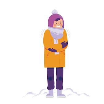 Le persone hanno freddo in inverni molto freddi