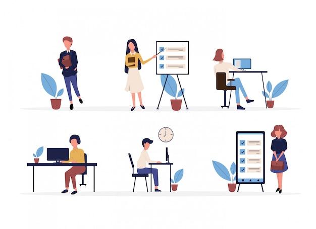 Le persone organizzano con successo i loro compiti e appuntamenti