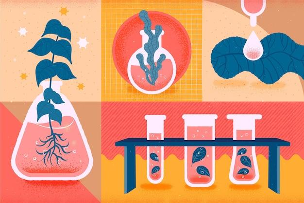 Le piante in crescita tornano al concetto di scuola