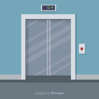 Le porte dell'ascensore piatto sono chiuse