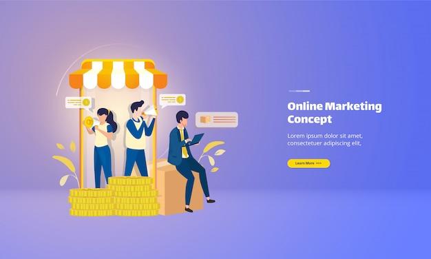 Le promozioni di marketing online offrono una pagina di destinazione