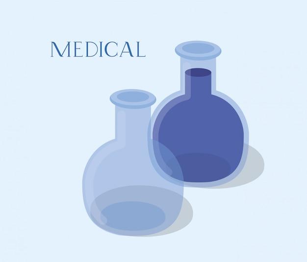 Le provette mediche provano le droghe