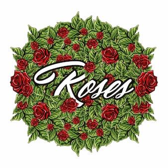 Le rose vector nel fondo bianco