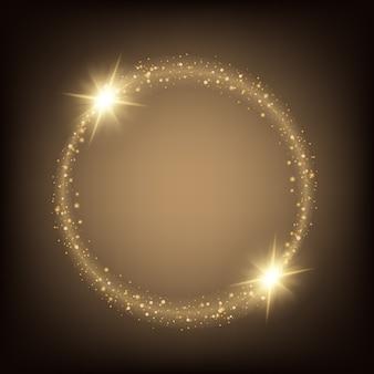 Le stelle ad effetto luce bagliore esplodono di scintillii.
