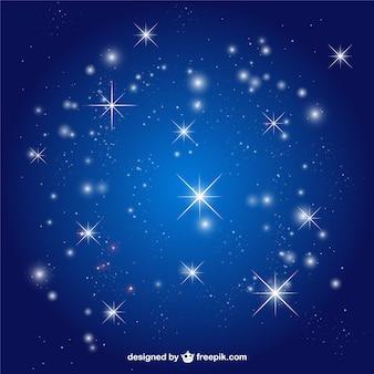 Le stelle del cielo vettore sfondo