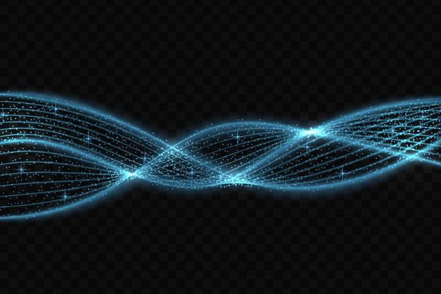 Le stelle di effetto della luce di incandescenza al neon scoppiano con le scintille isolate