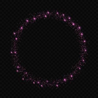 Le stelle di effetto della luce di incandescenza scoppia con le scintille isolate