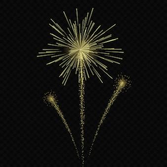 Le stelle magiche di effetto di incandescenza della luce scoppia con le scintille isolate su fondo trasparente. traccia di luce