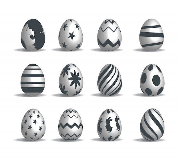 Le uova di pasqua hanno fissato il vettore