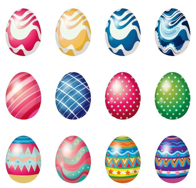 Le uova di pasqua per la domenica di pasqua cacciano le uova