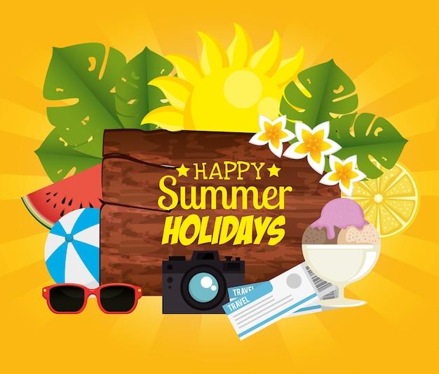 Le vacanze estive impostano le icone