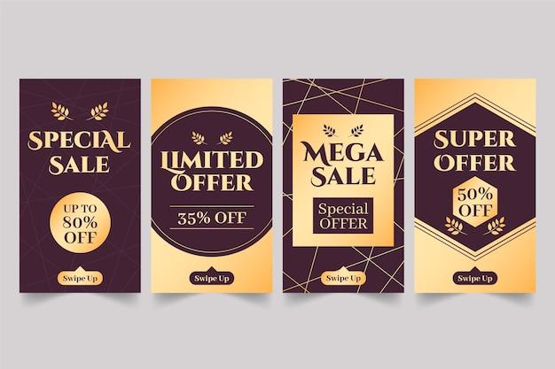 Le vendite d'oro offrono storie sui social media