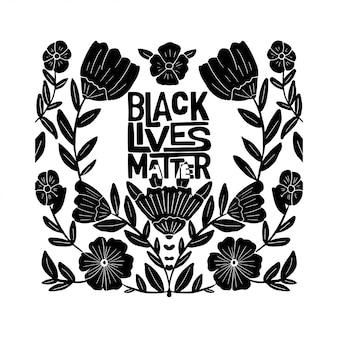 Le vite nere contano la frase con i fiori.