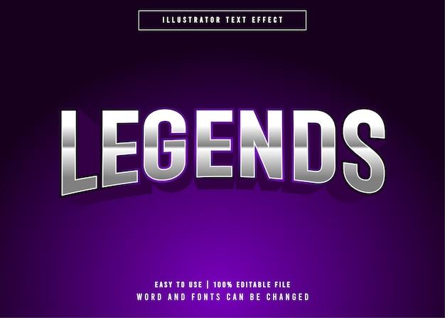 Legends e-sport effetto di testo modificabile