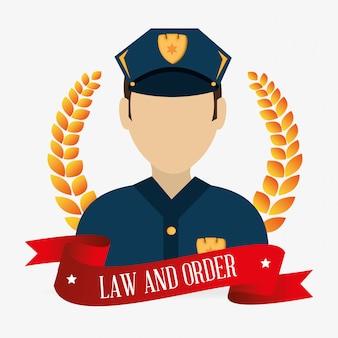 Legge e ordina il carattere di polizia