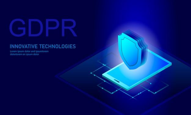 Legge sulla protezione dei dati personali gdpr. schermatura di sicurezza delle informazioni sensibili per la regolamentazione dei dati unione europea