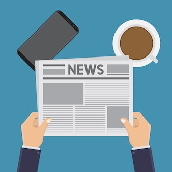 Leggere notizie piatte