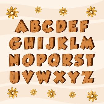 Legno alfabeto in legno