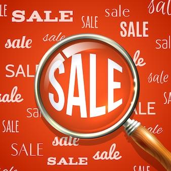 Lente d'ingrandimento e vendita