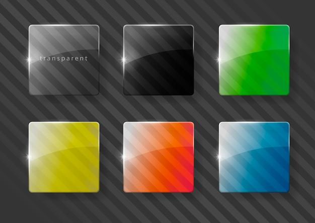 Lenti in vetro multicolore