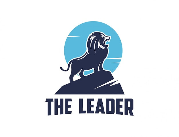 Leone sul logo in alto