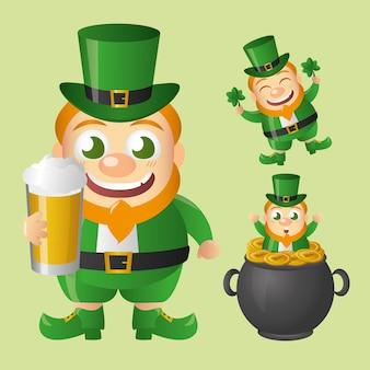 Leprechaun set irlandese, giorno di san patrizio