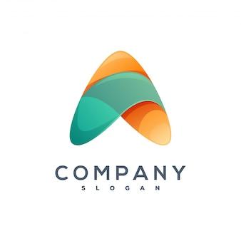 Letter un design del logo