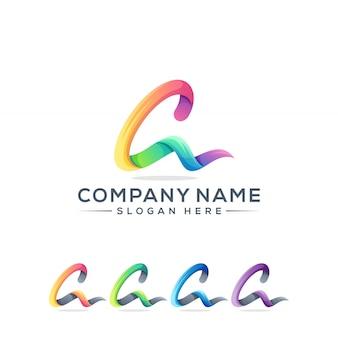 Lettera a logo design per la tua azienda