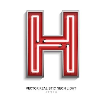Lettera al neon h